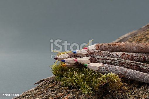 475744392 istock photo Wooden Colored Pencils 578096968