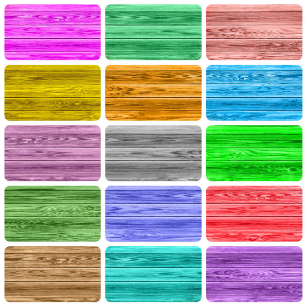 Wooden colorful labels collage Wooden colorful labels collage background signature collection stock pictures, royalty-free photos & images