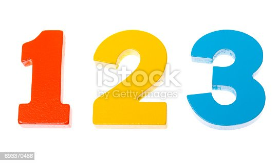 istock Wooden colorful numbers 1 2 3 693370466