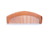 istock Wooden comb isolated on white background. Hairbrush made of biodegradable material 1226550981
