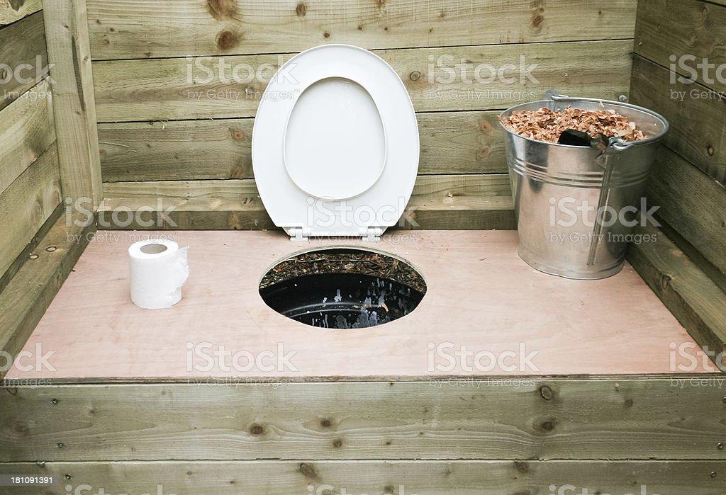 Hölzerne Kompost Toilette - Lizenzfrei Toilette Stock-Foto