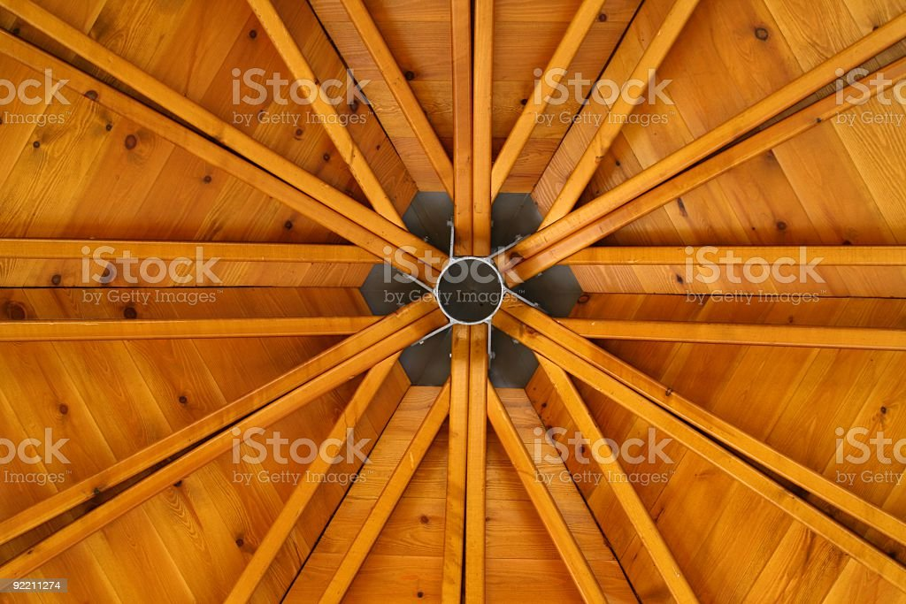 Wooden Construct Roof stock photo