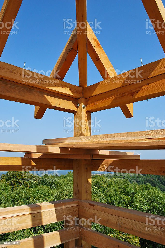 Wooden construction royalty-free stock photo