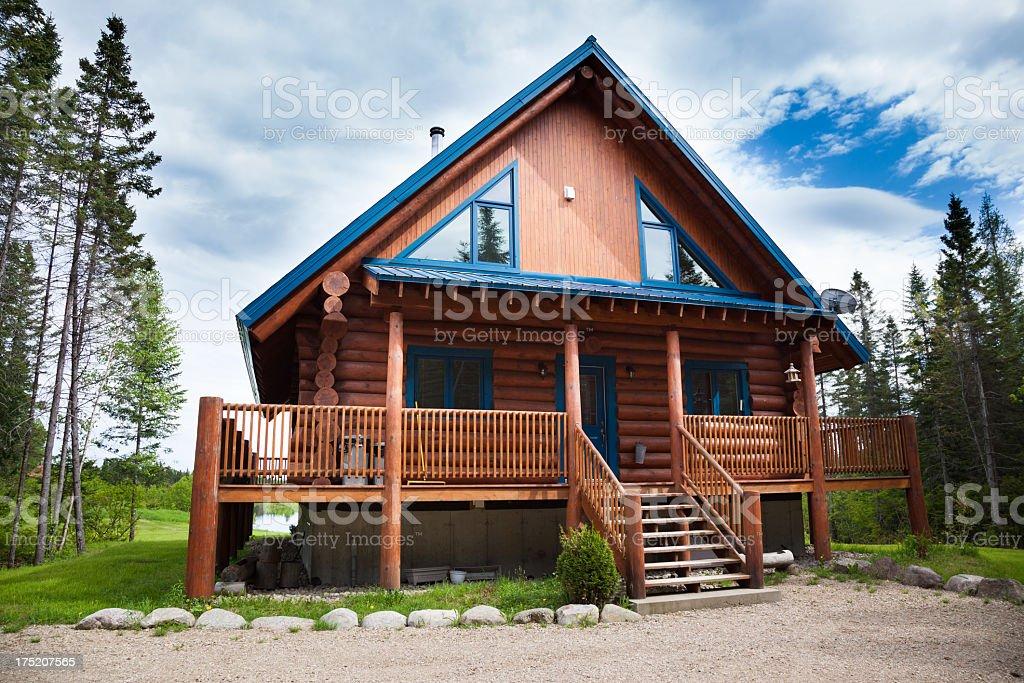 Wooden Cottage, Log Home, Log Cabin stock photo