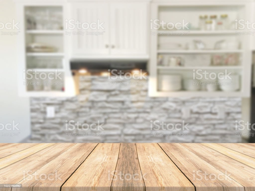 Wooden Countertop Inside The Kitchen Stock Photo Download Image Now Istock