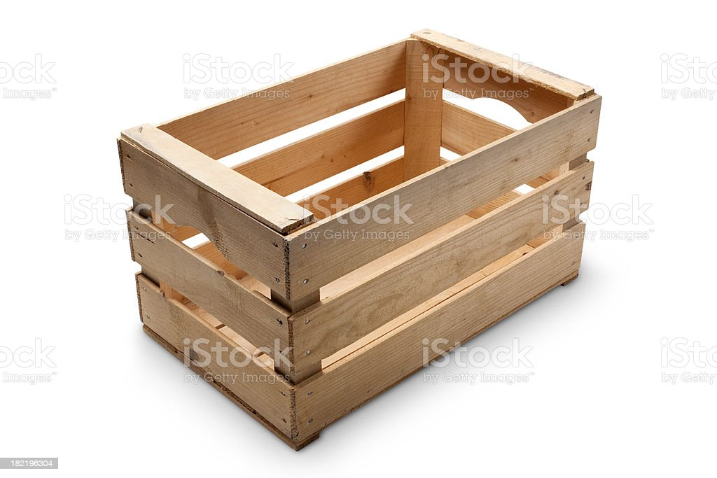 Wooden crate royalty-free stock photo
