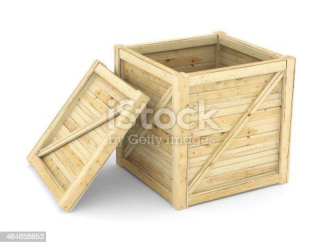 istock wooden crate 464858653
