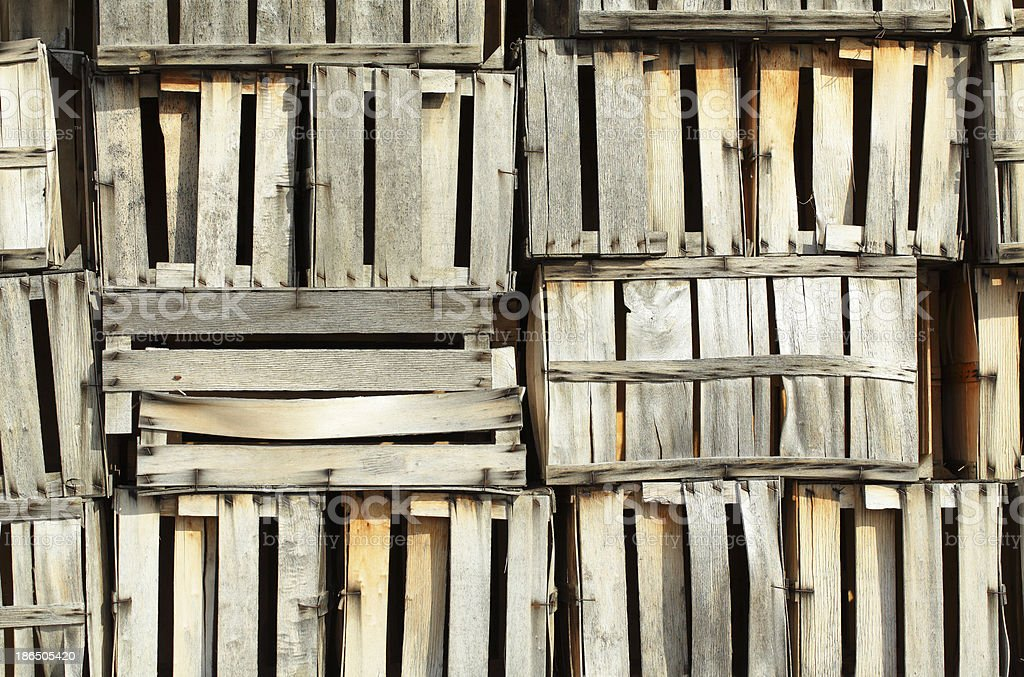 Wooden crates royalty-free stock photo