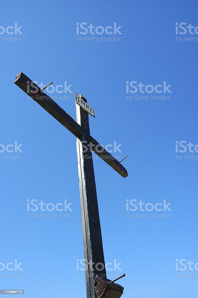 Wooden Cross 1 royalty-free stock photo