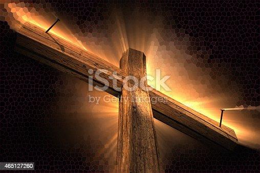 istock Wooden cross 465127260