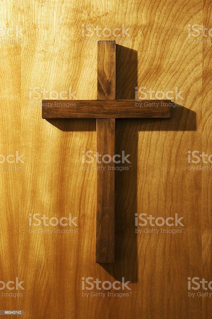 Drewniany Krzyż - Zbiór zdjęć royalty-free (Kościół)
