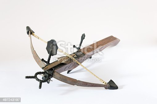 istock wooden crossbow made in Italy 497243197