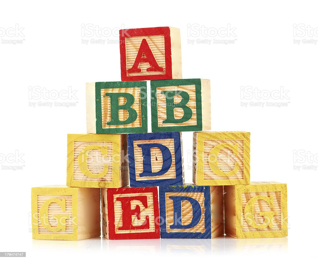 wooden cube alphabet royalty-free stock photo