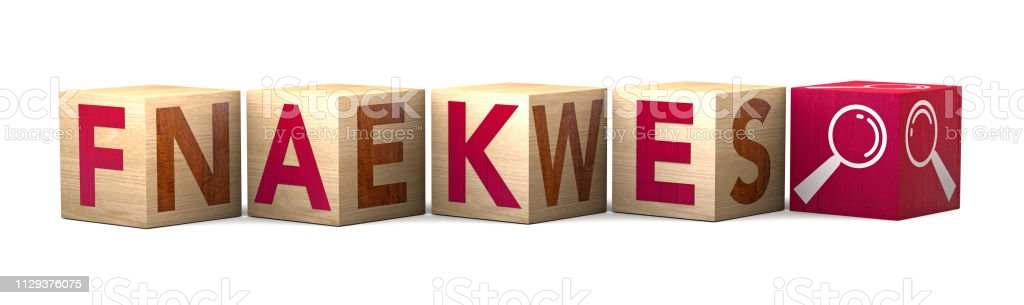 Wooden cube block on white background with word fake news. Concept. Deliberate disinformation or hoaxes spread via traditional print and broadcast news media or online social media – zdjęcie