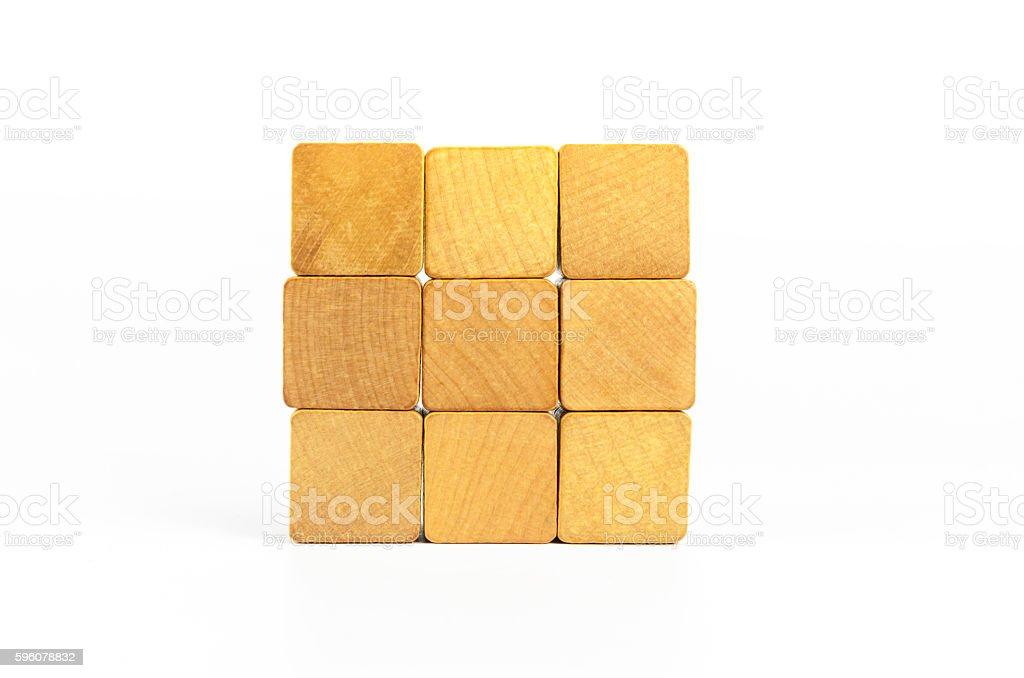 wooden cube block royalty-free stock photo