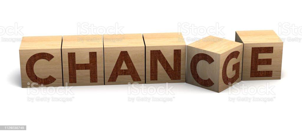 Holzwürfel flip mit Wort