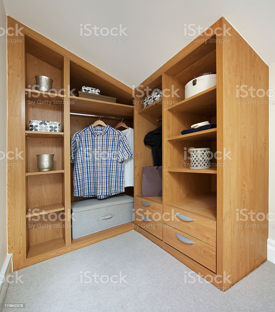 low priced 609e3 f67b9 Wooden Custom Fitted Inset Wardrobe In Attic Apex Corner ...