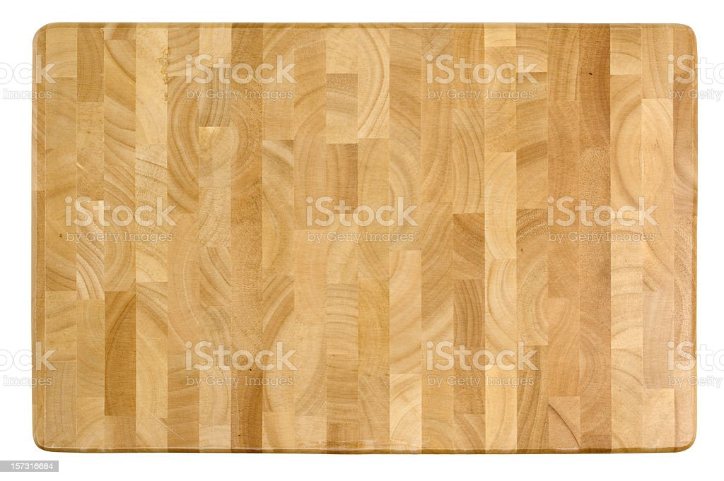 Wooden Cutting Board w/Clipping Path royalty-free stock photo