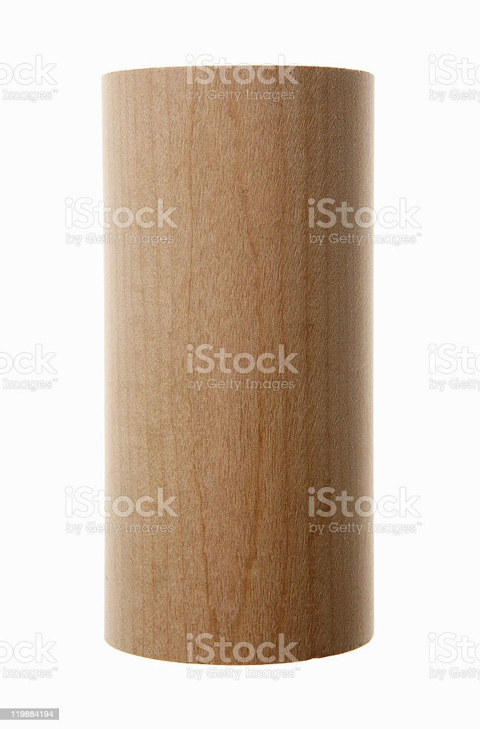 Wooden cylinder. stock photo
