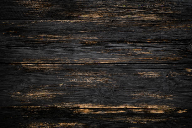 wooden dark background - dark wood texture stock photos and pictures