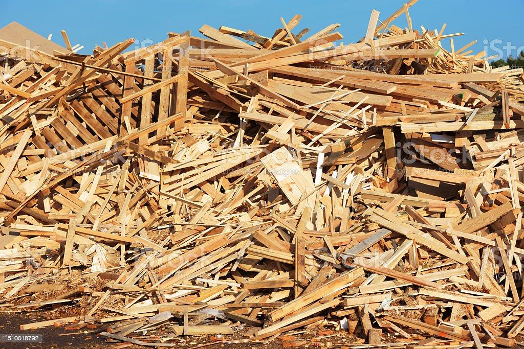 Wooden debris stock photo
