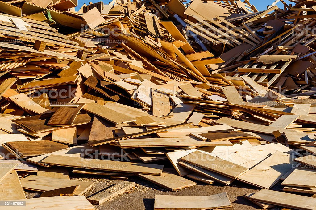 Débris en bois photo libre de droits