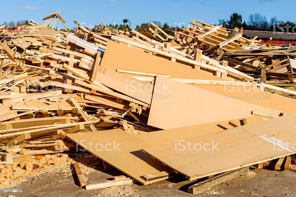 Detriti di legno foto stock royalty-free