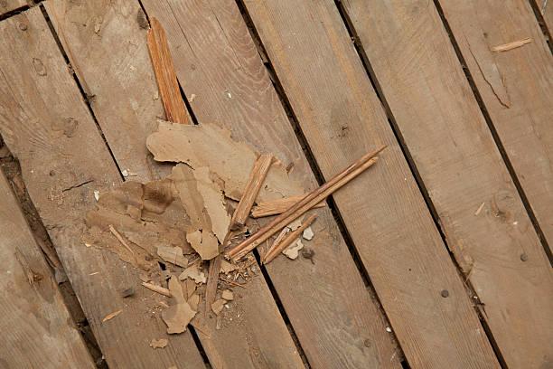 holzterrasse im abgerissen zimmer - terrassen deck design stock-fotos und bilder