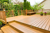 istock Wooden deck of family home. 912332782