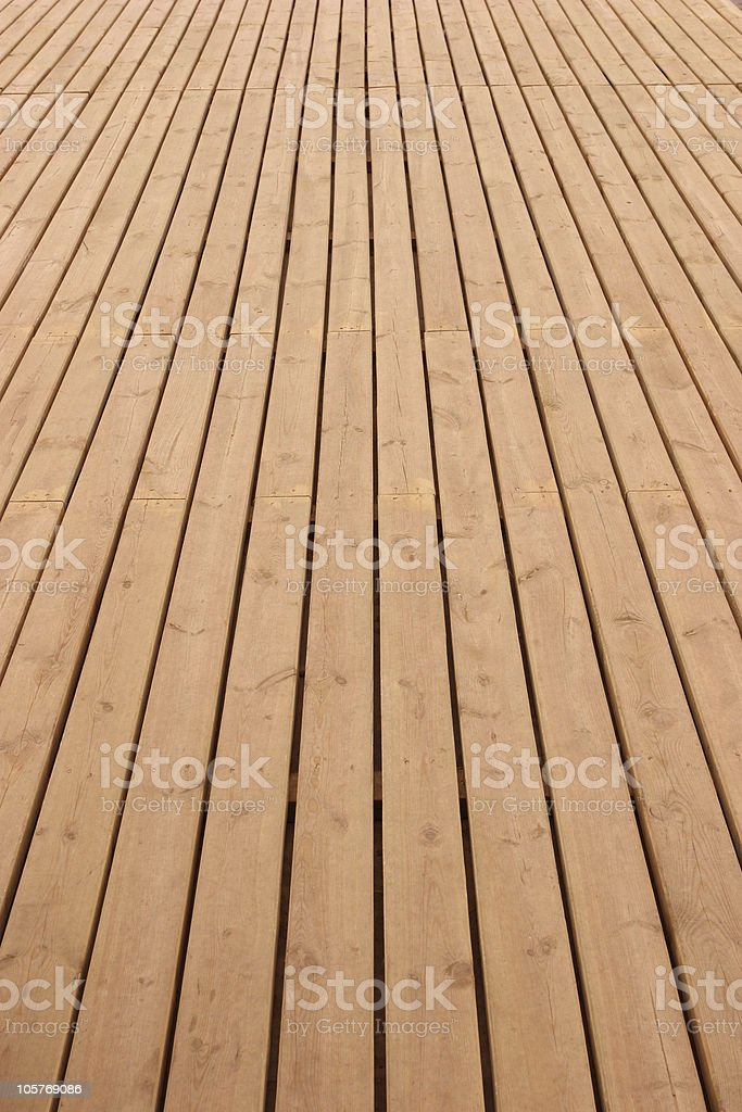 Wooden deck perspective royalty-free stock photo