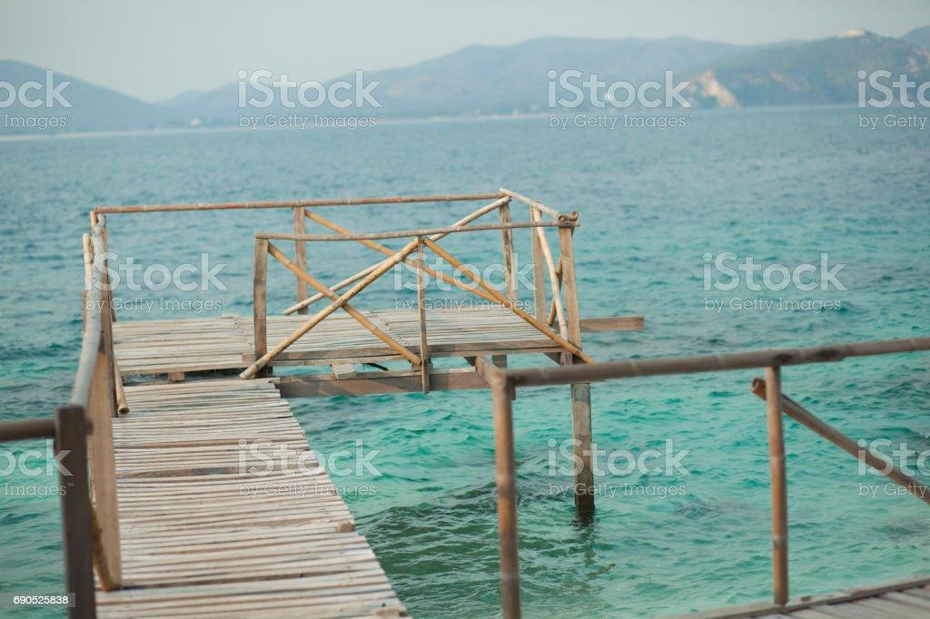 Wooden Deck stock photo