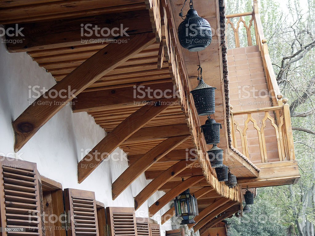 Wooden decoration royalty-free stock photo