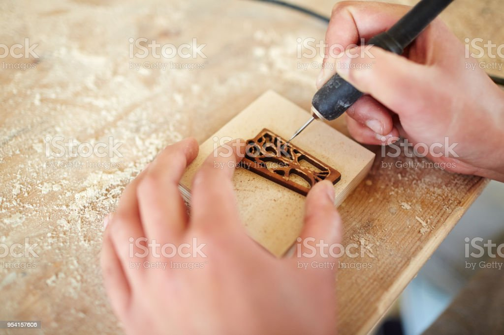 Wooden decoration stock photo
