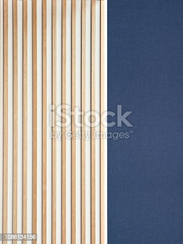 wooden decorative battens placed vertically