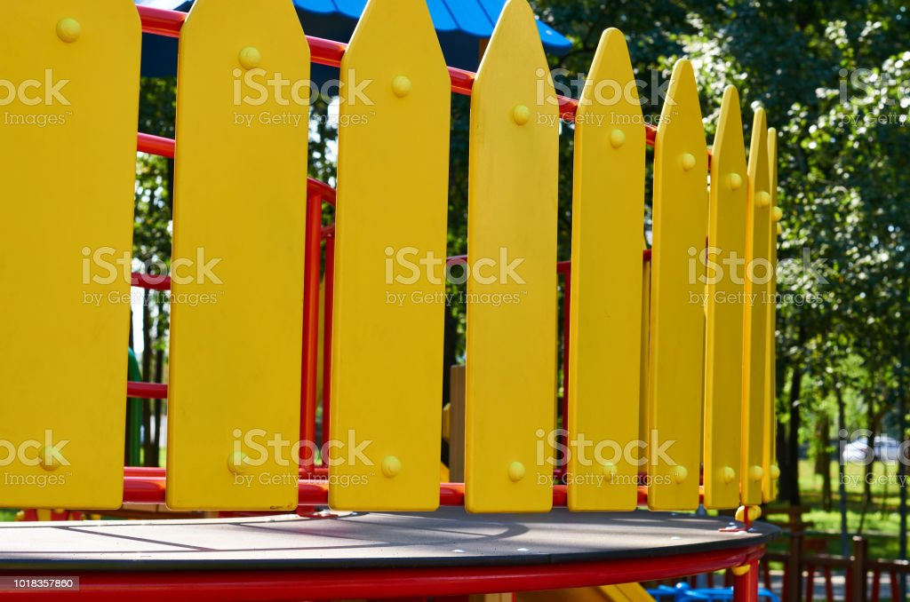 Wooden Decorative Fence At Playground In The City Park Stock Photo Download Image Now Istock
