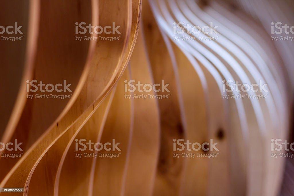 Wooden decorative interior finish - Photo