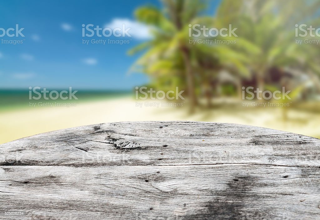 Wooden desk stock photo