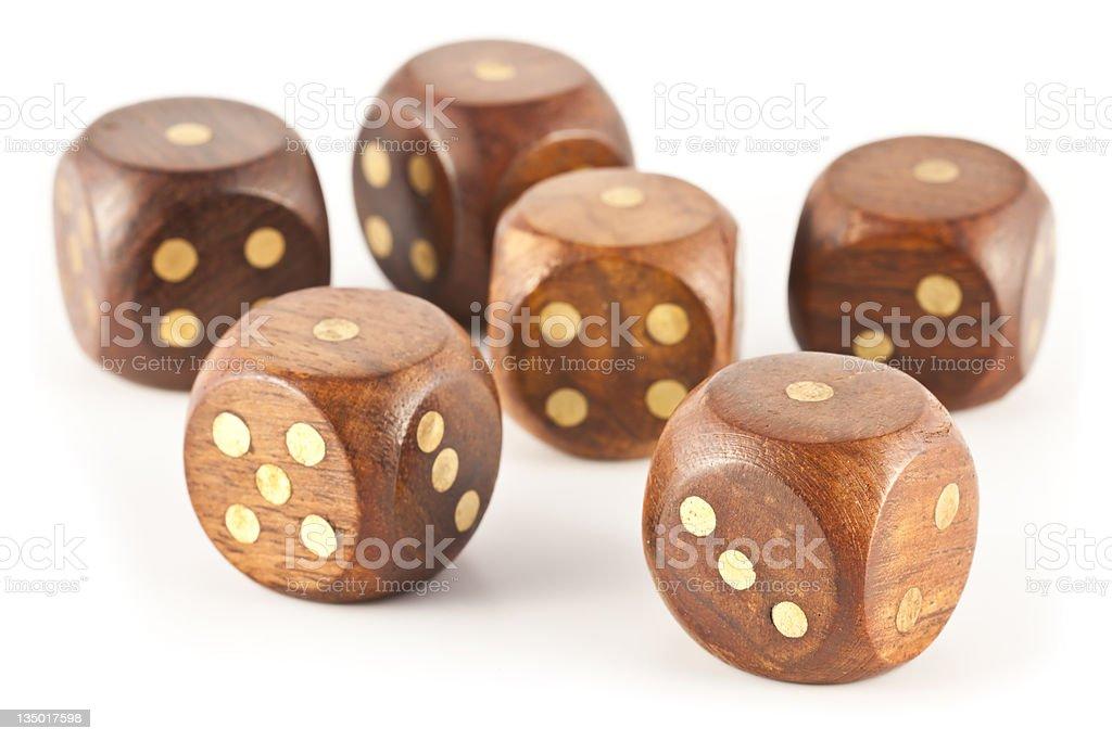 wooden dice gambling royalty-free stock photo