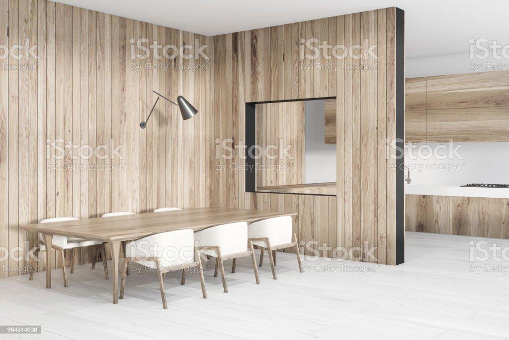 Aus Holz Esszimmer Ecke Langer Tisch Stockfoto Und Mehr Bilder Von Architektur Istock