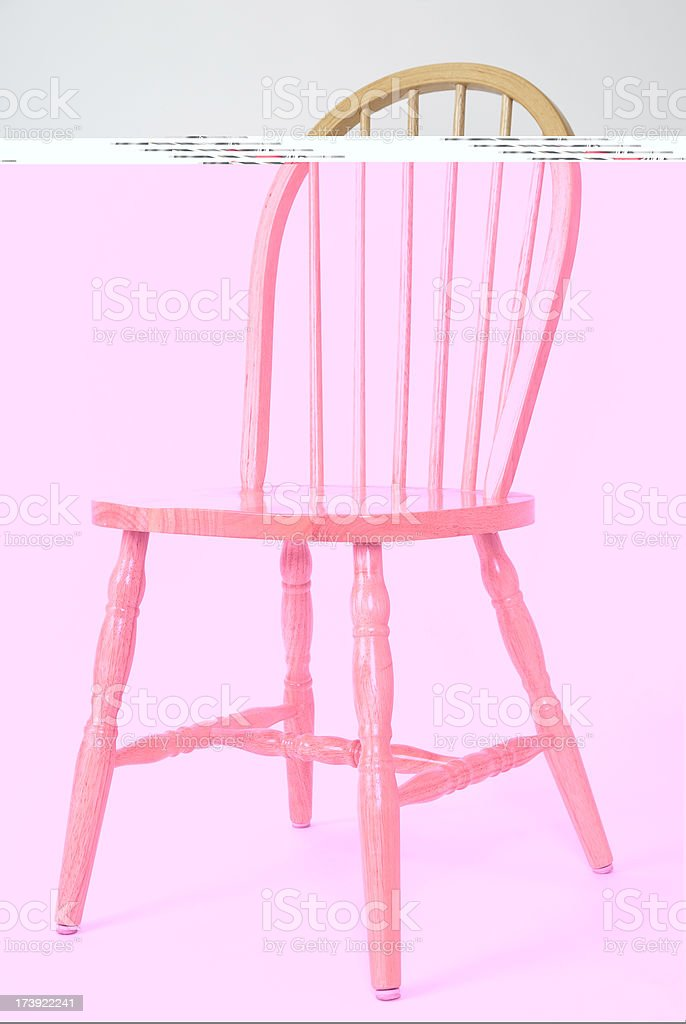 Wooden Dinning Chair royalty-free stock photo