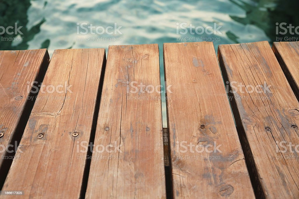Wooden dock royalty-free stock photo