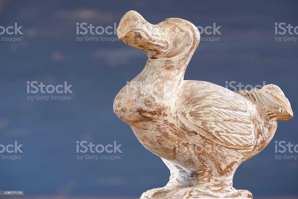 Wooden Dodo bird, typical souvenir from the island of Mauritius. stock photo