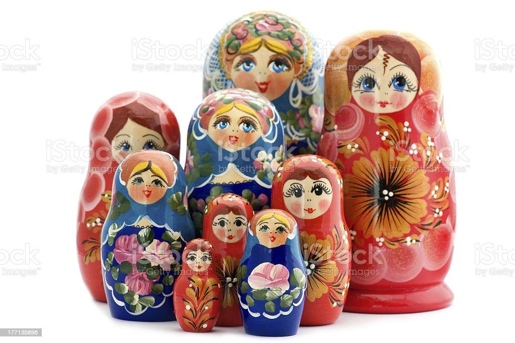 wooden doll matrioshka royalty-free stock photo