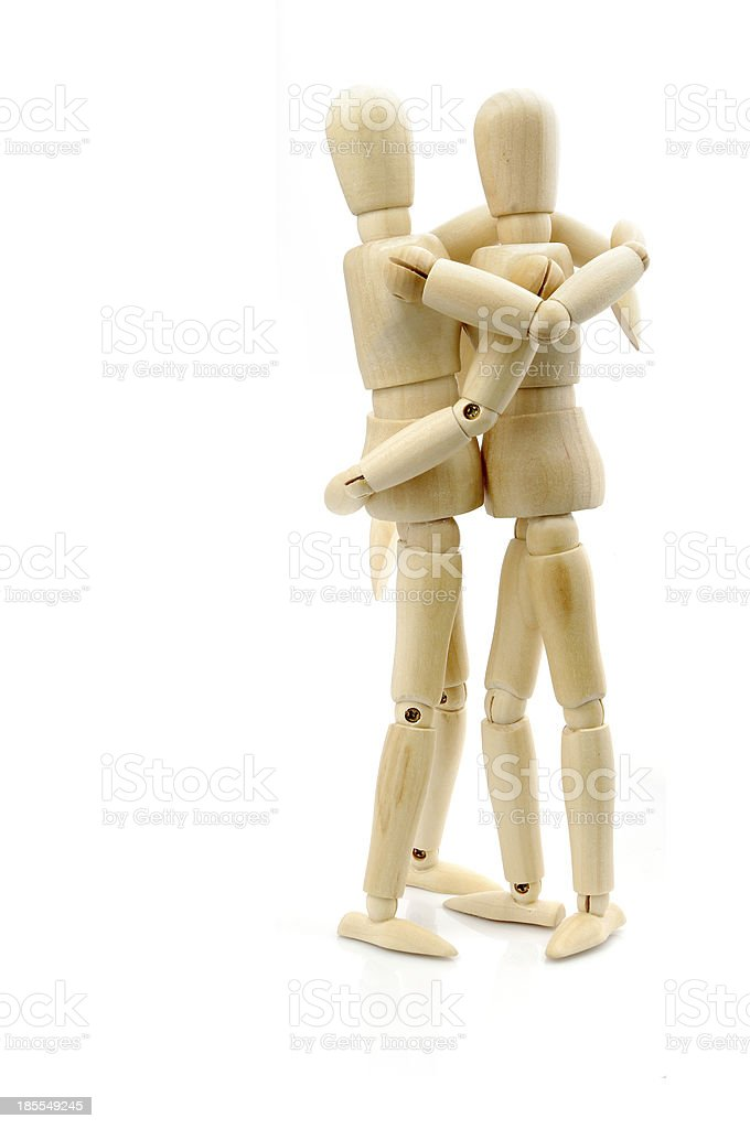 Wooden doll stock photo