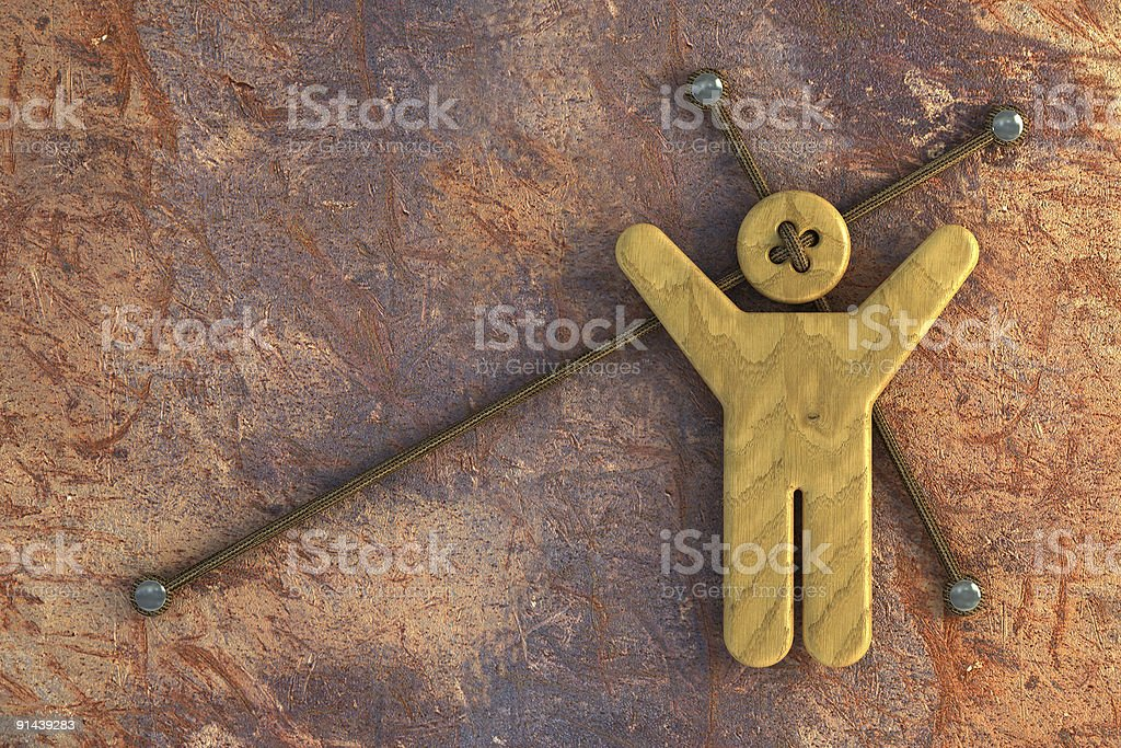 wooden doll royalty-free stock photo