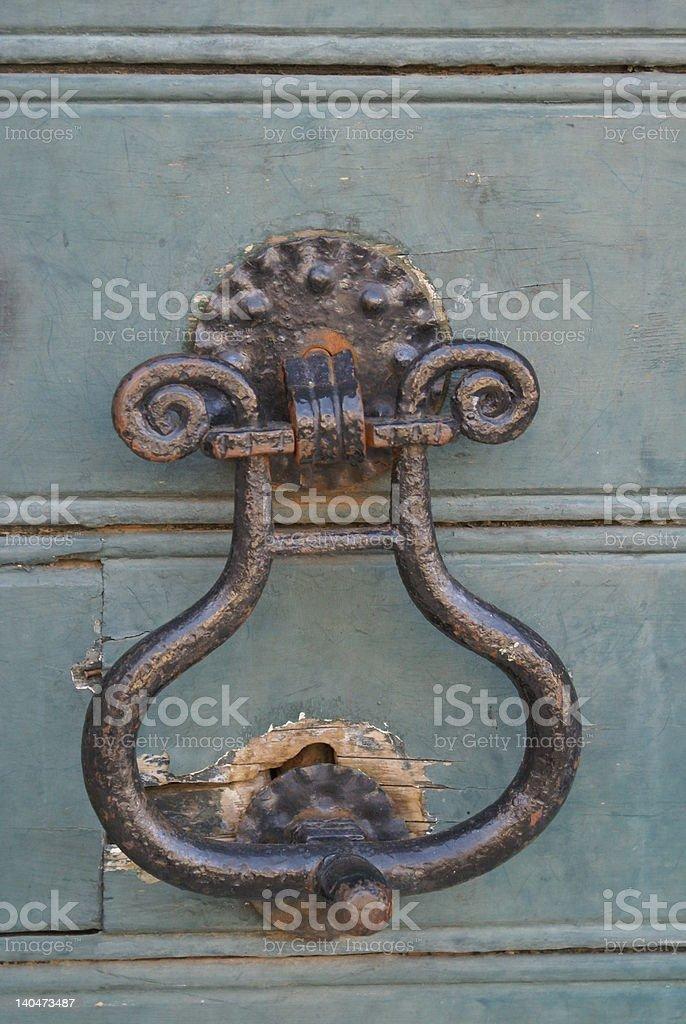 Wooden door Dubrovnik royalty-free stock photo