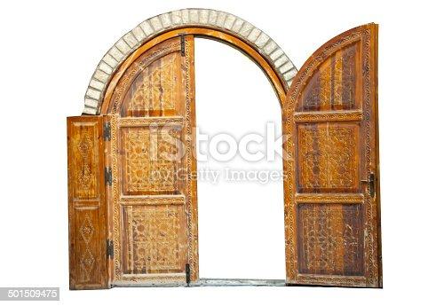 istock Wooden door 501509475