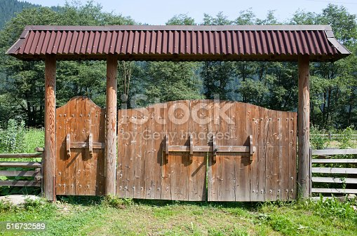istock Wooden door 516732589