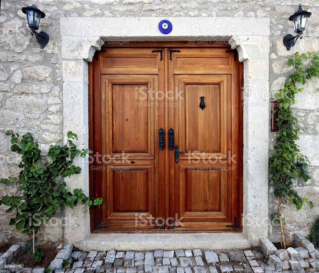 Wooden Door royalty free stockfoto