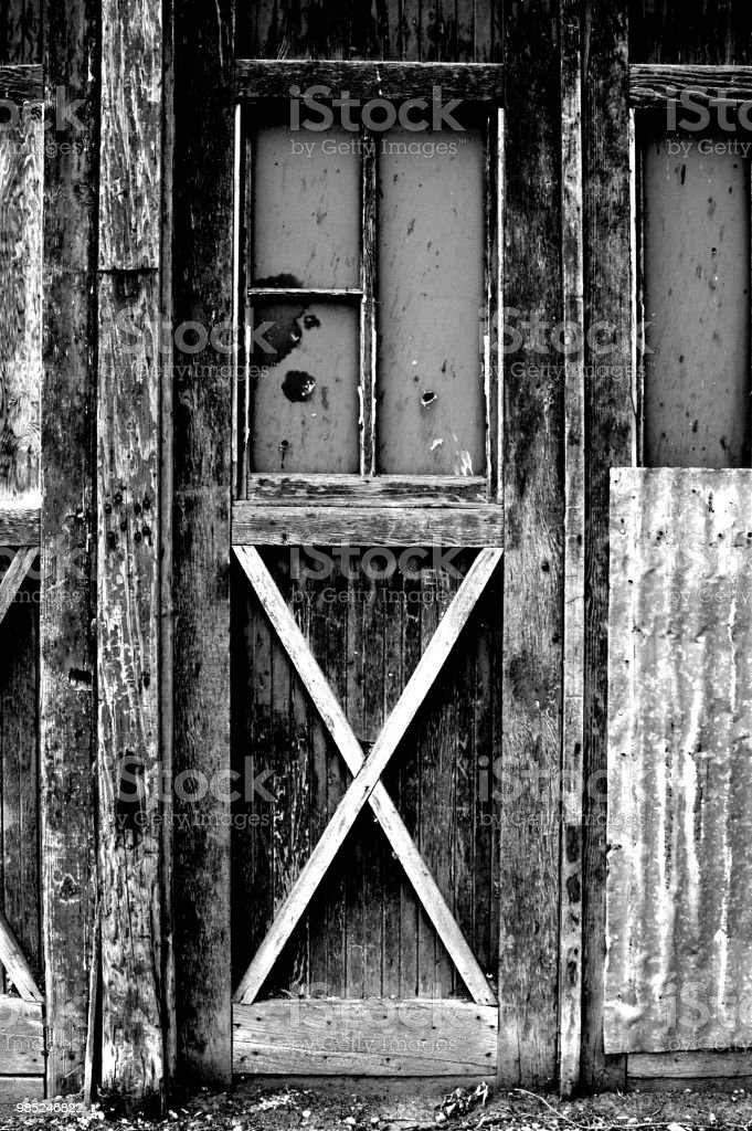 Wooden Door With Broken Windows Of An Old Abandoned Gas Station In Rural Utah Old Run Down And Forgotten Places Former Service Station Office Door With Broken Windows Stock Photo Download